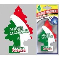 ARBRE MAGIQUE PROFUMO FRAGRANZA AUTO ITALIAN BREEZE CONFEZIONE DA 5 PEZZI