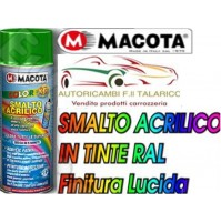 BOMBOLETTA SPRAY MACOTA COLORE BLU BRILLANTE TINTA RAL SMALTO ACRILICO