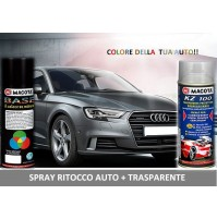 Bomboletta Spray RITOCCO VERNICE 400 ml + TRASPARENTE PORSCHE 39G DUNKELBLAU