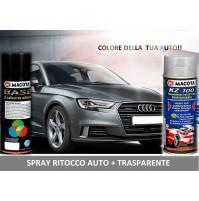 Bomboletta Spray RITOCCO VERNICE 400 ml + TRASPARENTE PORSCHE 729 SATINSCHWARZ