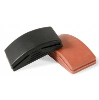 CORCOS TAMPONE TASSELLO ROSSO IN GOMMA RUBBER 1 PEZZO  - size 70mm X 125 mm
