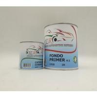FONDO Acrilico PRIMER Carrozzeria Auto Moto 4:1 NERO 1LT + Catalizzatore 250 ml