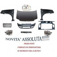 KIT MUSO MUSATA FRONTALE COMPLETA FIAT PANDA 09 12 VERNICIATO 129 ROSSO SWIFT