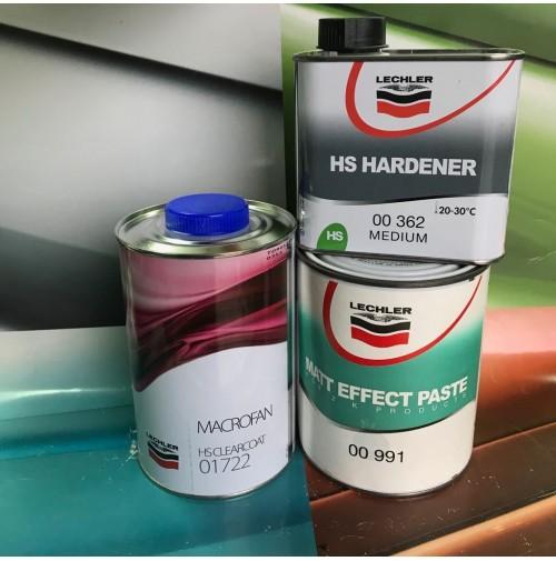 Kit Pasta Opacizzante Lechler 00991 MATT EFFECT + Trasparente 01722  Cataliz 362