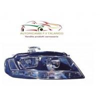 PROIETTORE FANALE ANT ANTERIORE SX AUDI A4 2008> H7+H7  CON MOTORE (SENZA LED)