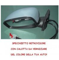 SPECCHIETTO RETROVISORE ELETTRICO SX COMPLETO FIAT STILO 01 CALOTTA VERNICIABILE