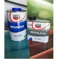 TRASPARENTE LECHLER DA 1 LT MEGALACK ML 920 + CATALIZZATORE DA 0,5 LT ML 900