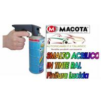 Vernice Spray 400ml OGNI COLORE RAL NON COLA Lucido Opaco MACOTA + impugnatura