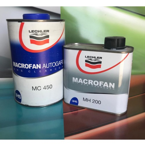 Vernice Trasparente Bicomponente MC450 MACROFAN ANTIGRAFFIO LECHLER AUTO E MOTO